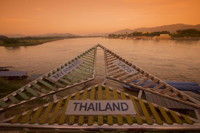 泰国清莱金黄三角SOP RUAK 免版税库存图片