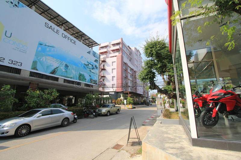 泰国清迈街道视图 免版税库存图片