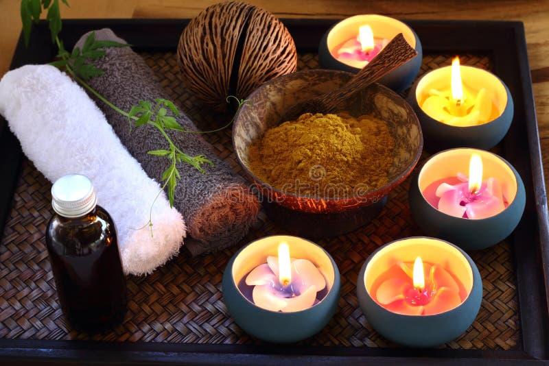 泰国温泉和按摩 库存图片