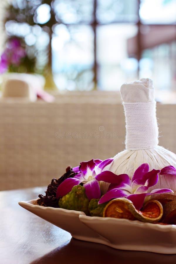 泰国温泉按摩装饰 免版税库存照片