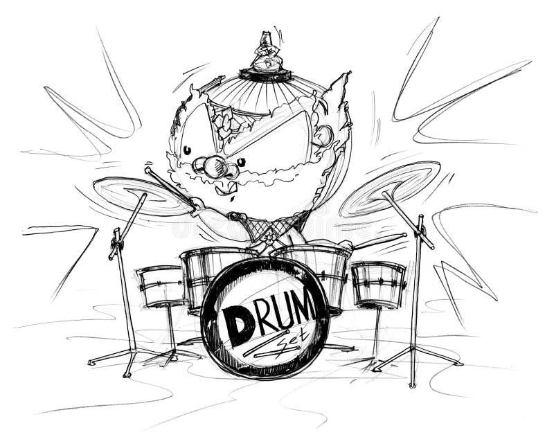 泰国演奏鼓集合展示动画片的Gumphant 免版税图库摄影