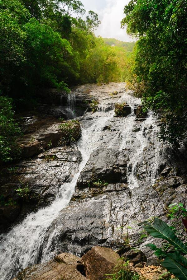 泰国瀑布 免版税库存照片