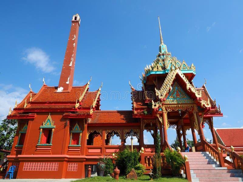 泰国火葬场的寺庙 免版税库存照片