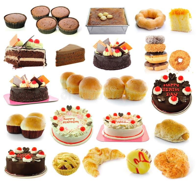 泰国点心面包蛋糕油炸圈饼新月形面包 库存图片