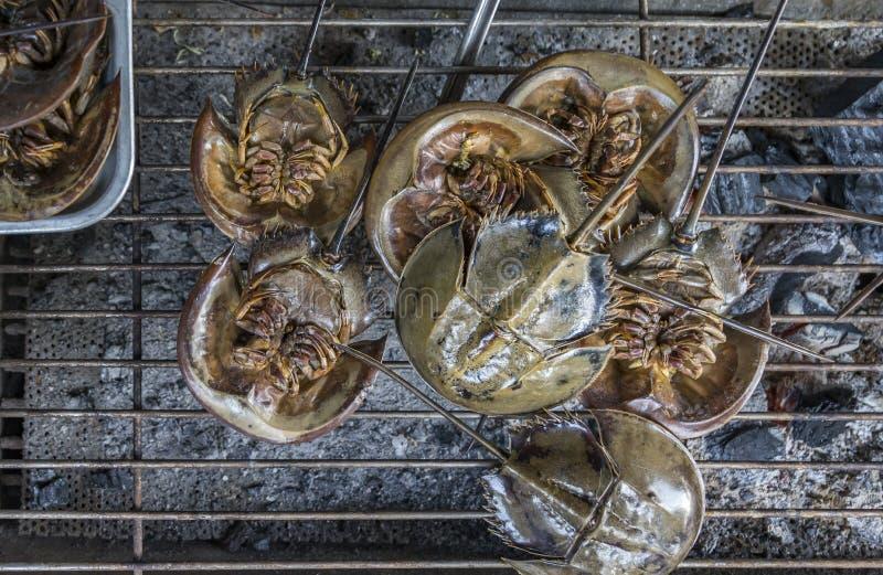 泰国烤了海鲜鲎 免版税库存图片