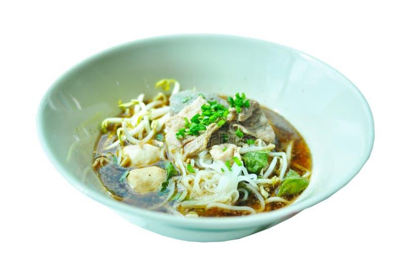泰国猪肉面条 库存照片