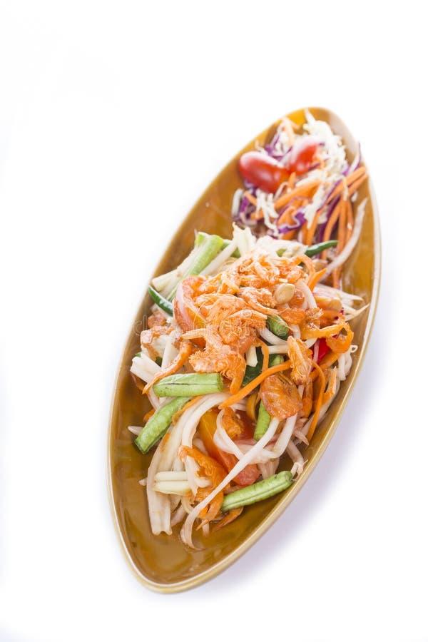 泰国番木瓜的沙拉 图库摄影