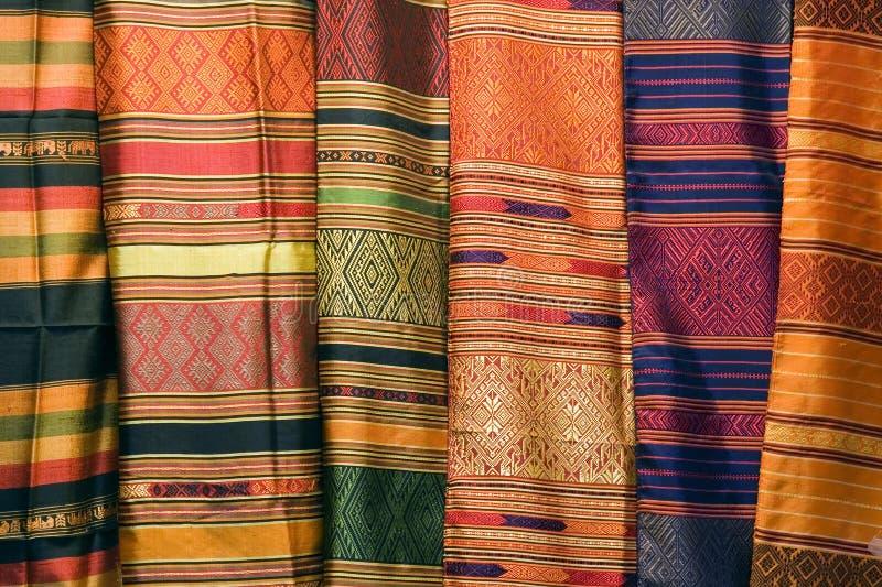 泰国的丝绸 图库摄影
