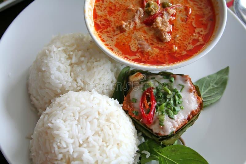 泰国的咖喱 免版税库存图片