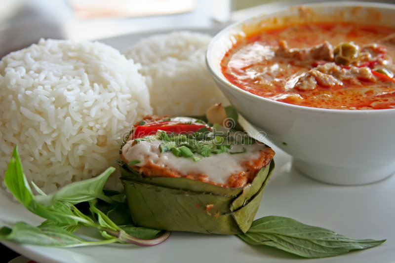 泰国的咖喱 库存照片