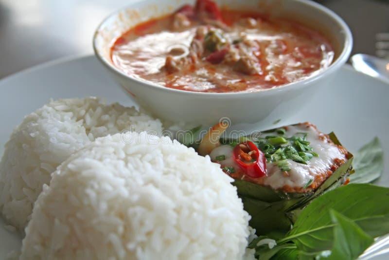 泰国的咖喱 库存图片
