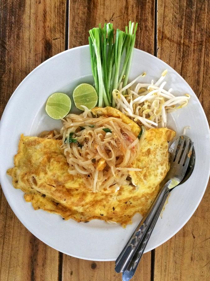 泰国的垫;泰国食物 免版税库存图片