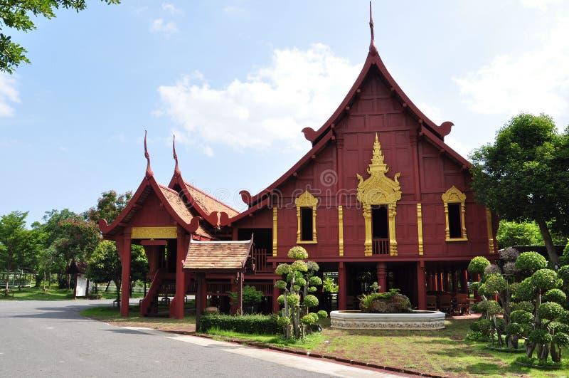 泰国的家庭风格 免版税图库摄影