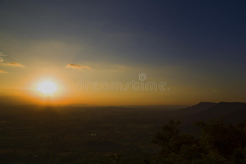 泰国的日落 免版税库存照片