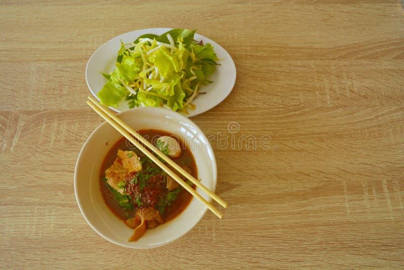 泰国的汤面 库存照片