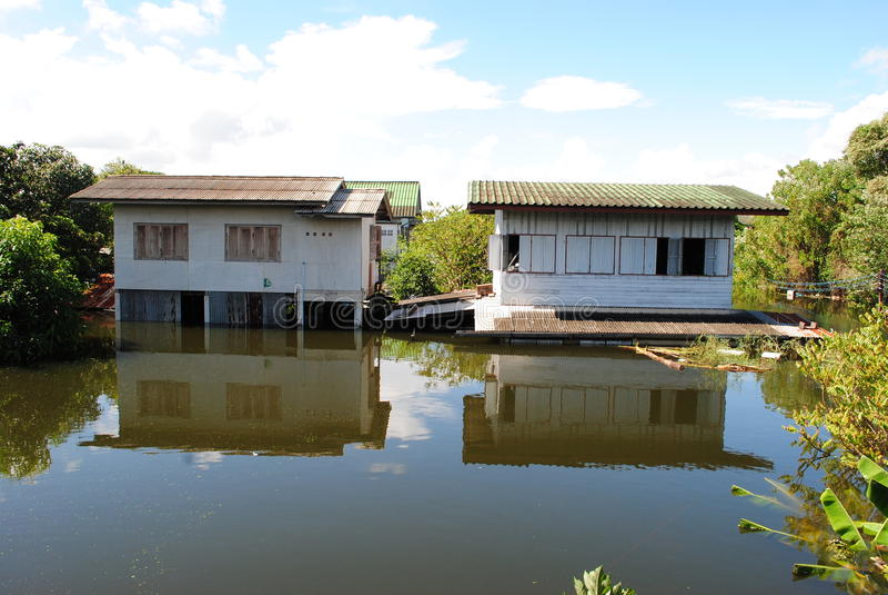 泰国的洪水 免版税图库摄影
