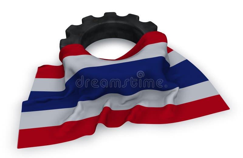 泰国的链轮和旗子 库存例证