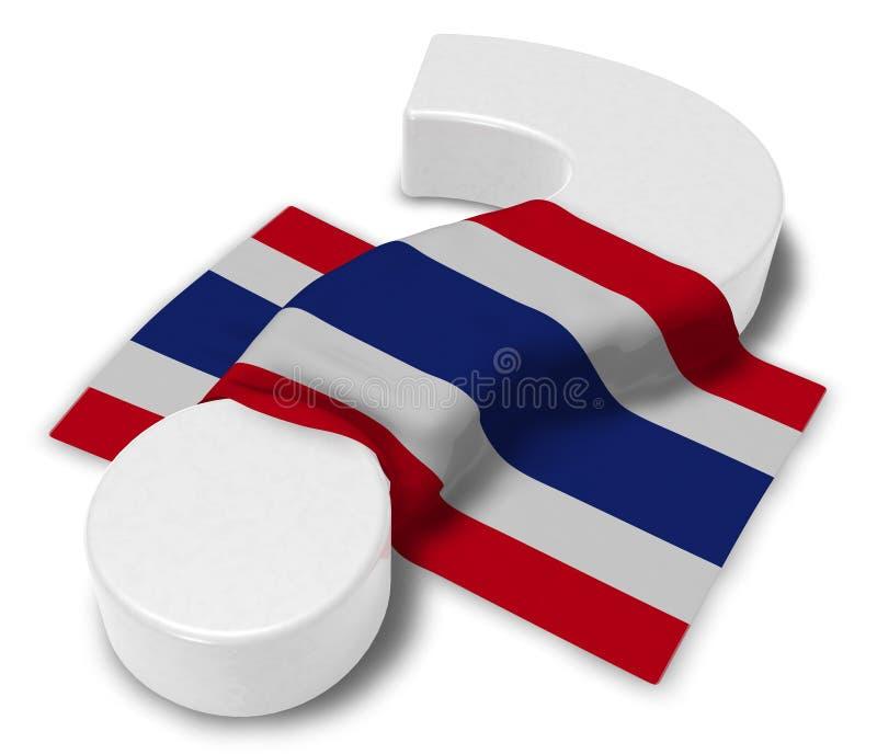 泰国的问号和旗子 库存例证