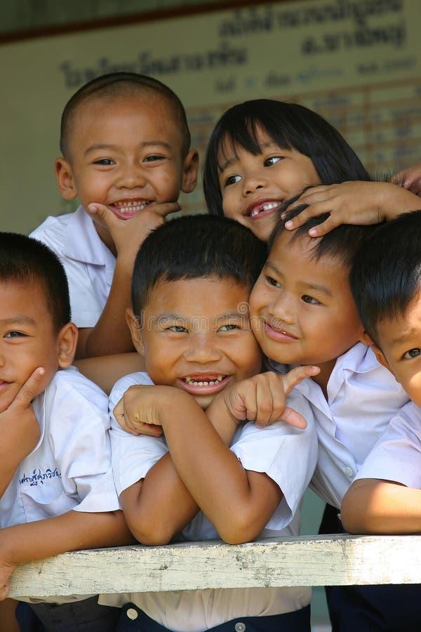 泰国的schoolkids 图库摄影