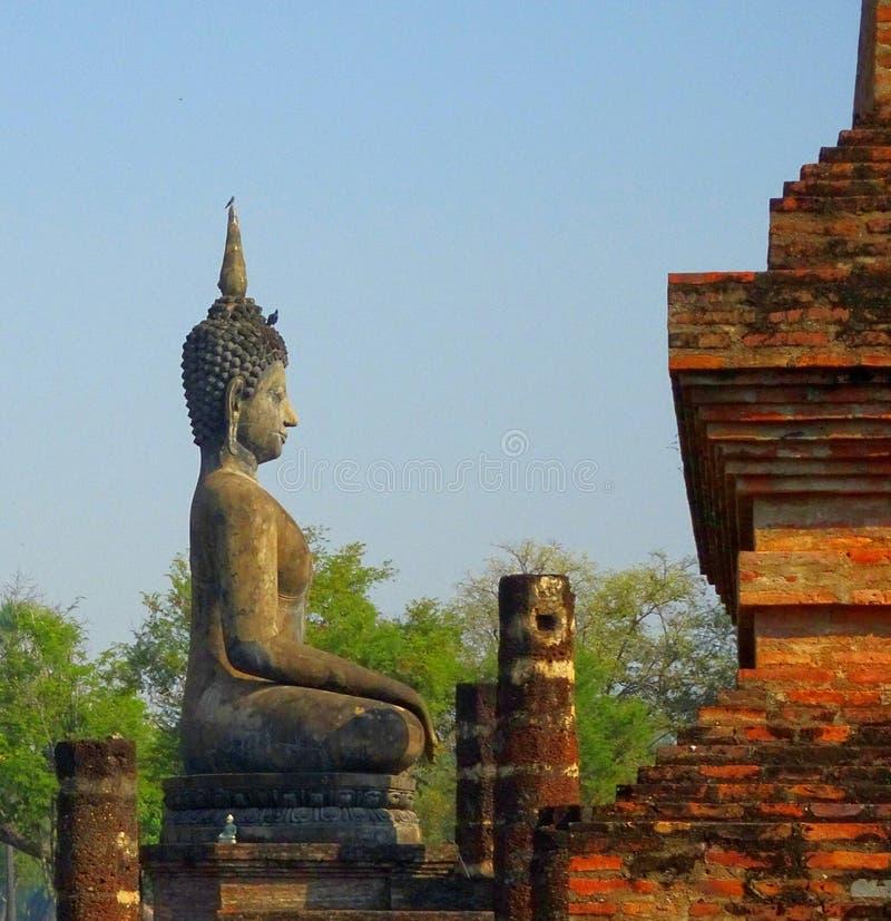 泰国的Sukhotai老首都 免版税库存照片