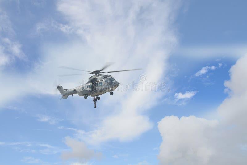 泰国空军队直升机 免版税库存图片