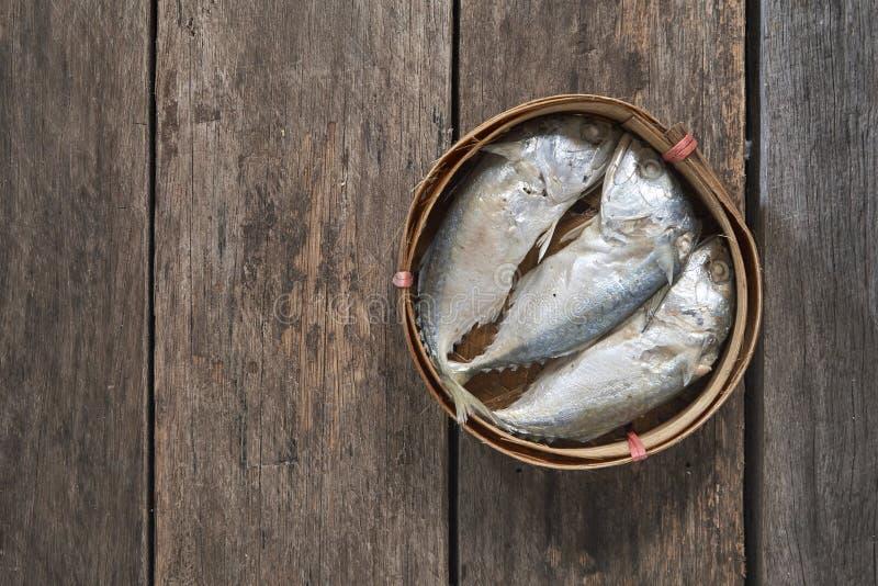 泰国篮子的鲭鱼 免版税库存图片