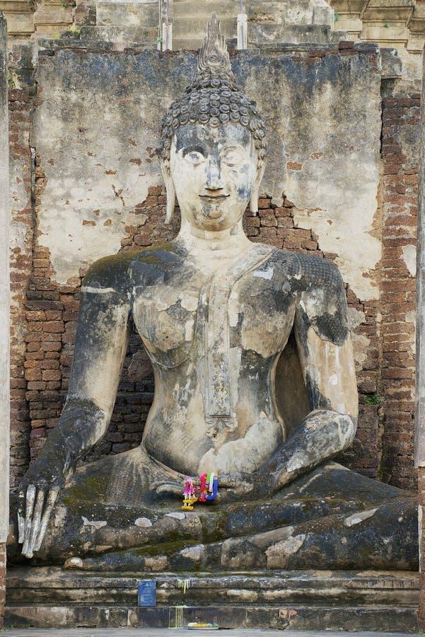 泰国素可泰历史公园西萨查纳莱佛像 库存图片