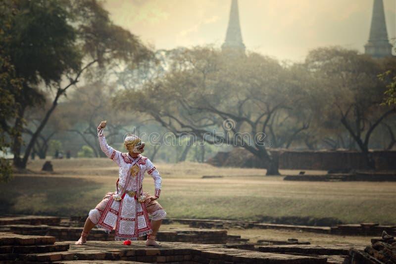 泰国艺术文化Khon或Ramayana故事 库存照片
