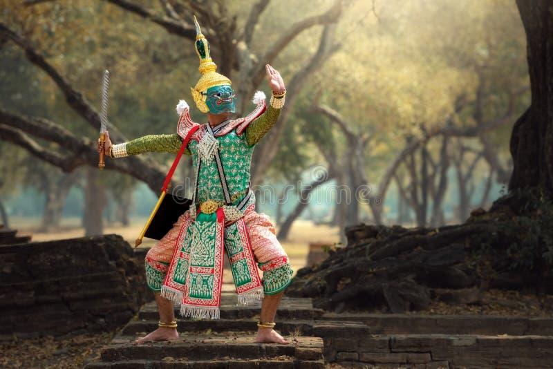 泰国艺术文化Khon 图库摄影