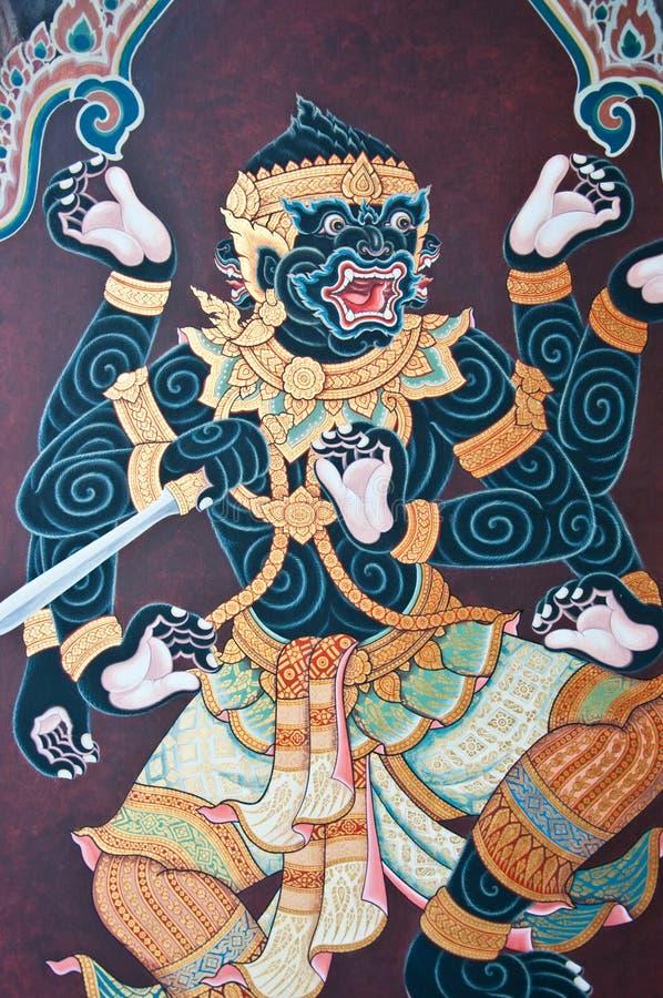 泰国艺术神仙的ramayana 免版税库存照片