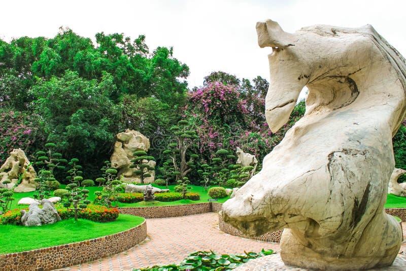 泰国芭达亚百万年石公园 库存照片