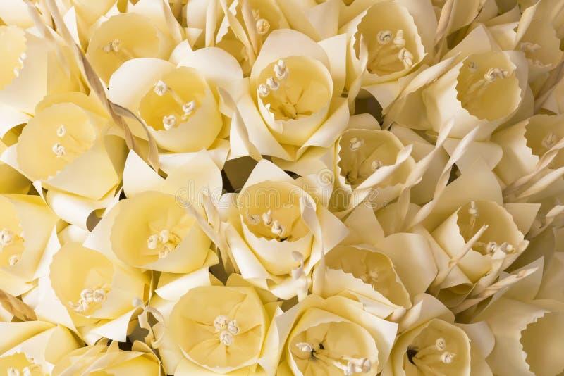 泰国葬礼花 用于火葬的人造花 免版税库存图片