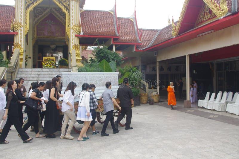 泰国葬礼 免版税库存图片