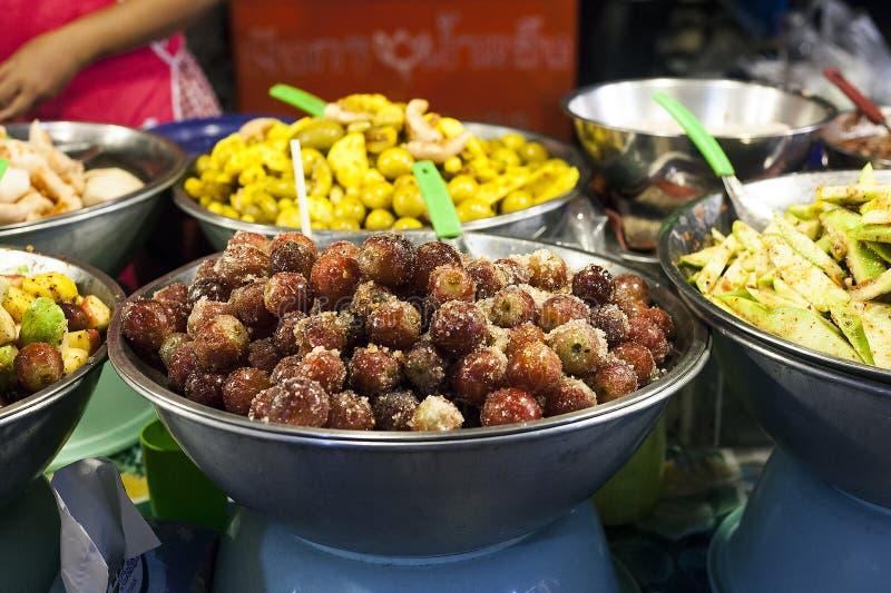 泰国街道食物辣果子,沙拉 免版税库存照片