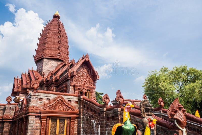 泰国西萨吉普兴区Prai Pattana寺 免版税库存图片