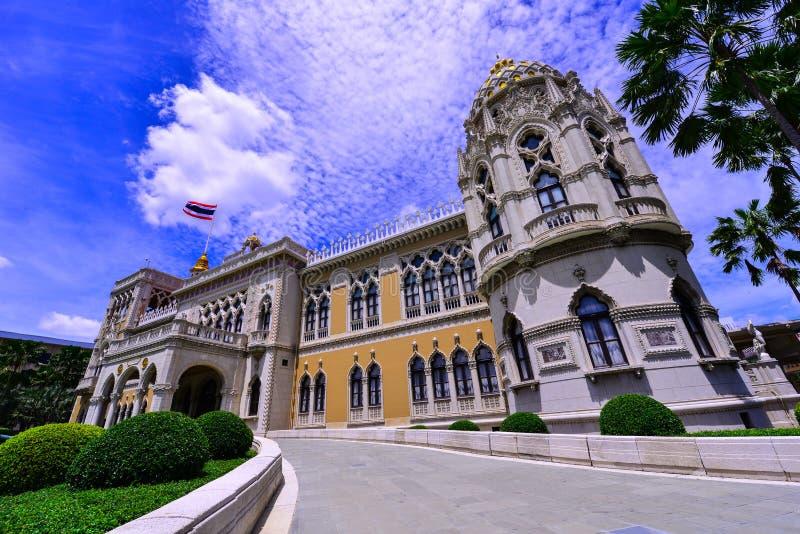 泰国议会,泰国政府大厦,泰国香港礼宾府,曼谷,泰国华氏豪宅在曼谷, Januar的泰国 免版税库存图片