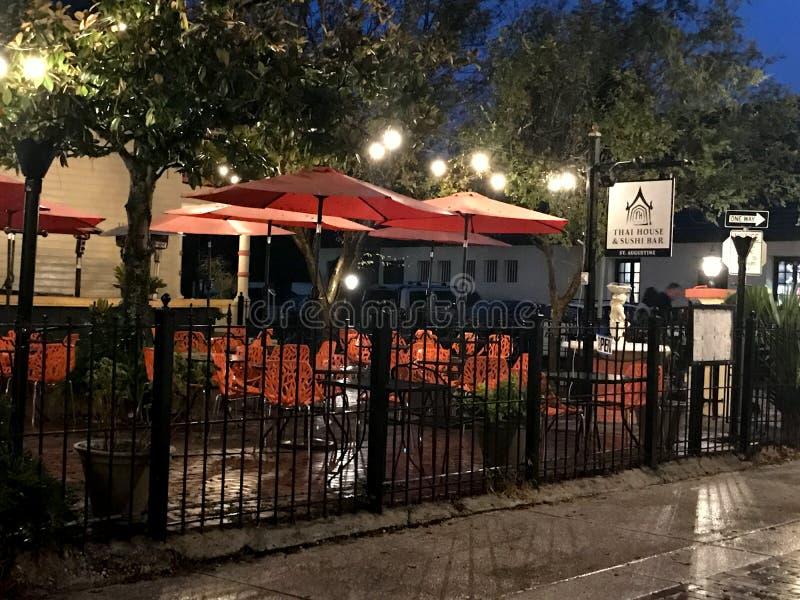 泰国议院寿司店,圣奥斯丁,佛罗里达 免版税图库摄影