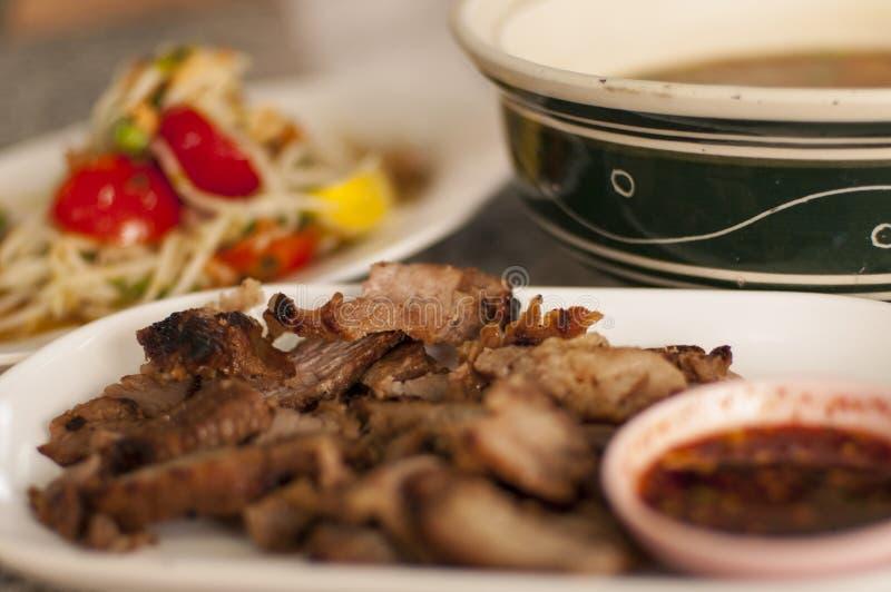 泰国辣鲜美食物 库存图片