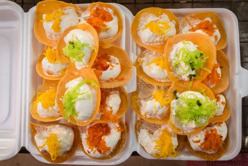 泰国酥脆薄煎饼 库存照片