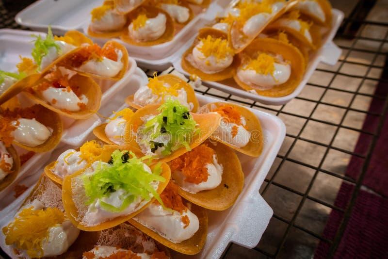 泰国酥脆薄煎饼 图库摄影
