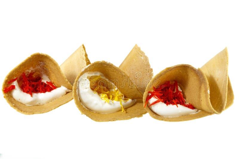 泰国酥脆薄煎饼(Kanom Buang) 免版税库存图片