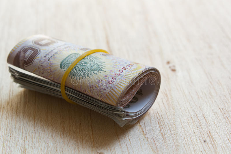 泰国金钱卷。 免版税库存图片
