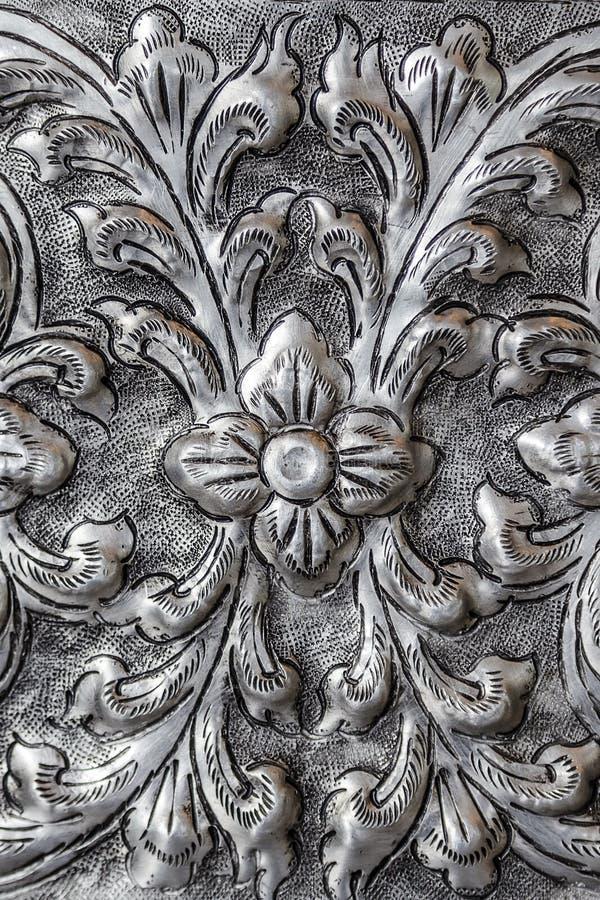 泰国银色雕刻 库存图片