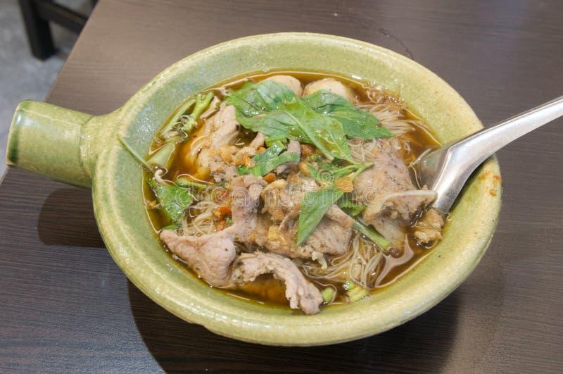 泰国面条猪肉 免版税库存照片