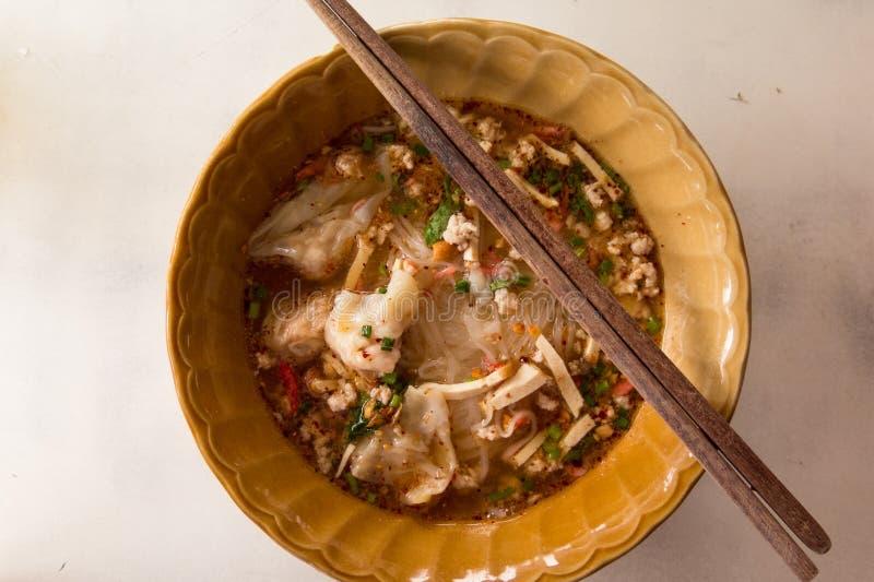 泰国面条的样式 库存图片