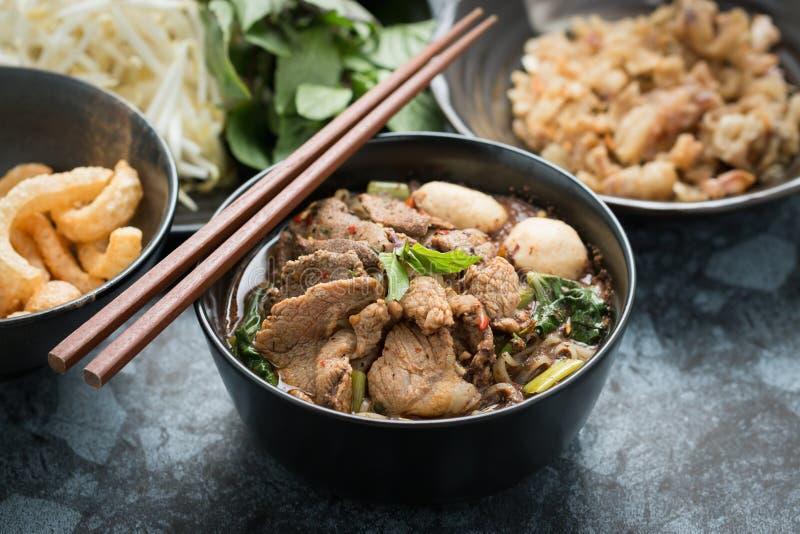 泰国面条的猪肉 免版税库存照片