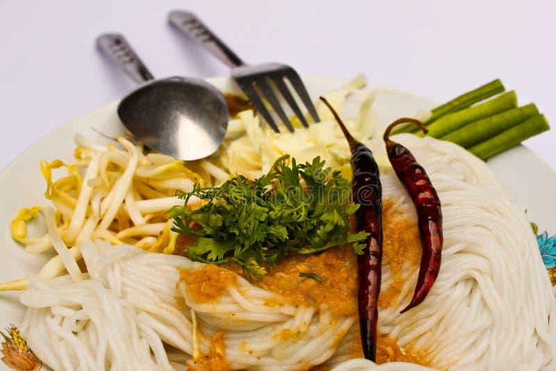 泰国面条的米 免版税库存图片