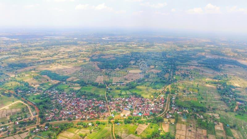 泰国风景自然绿色moutain小山森林 免版税库存图片