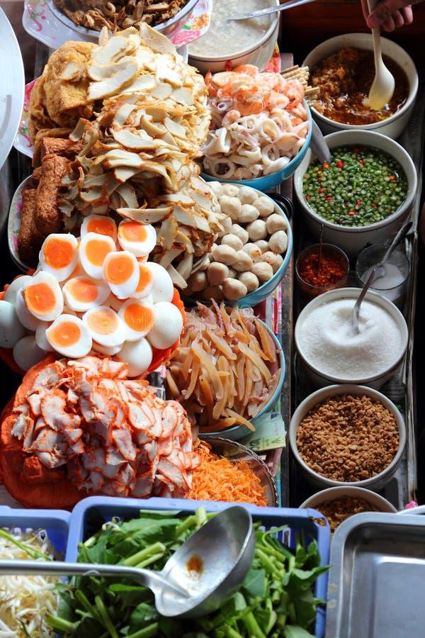 泰国食物市场 免版税库存照片