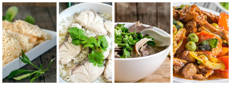 泰国食物拼贴画照片  库存图片